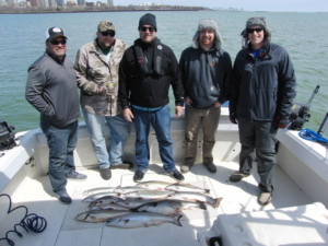 Group of 5 with fish haul